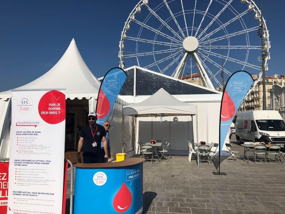 , Mobilisation : une semaine pour donner son sang sous le chapiteau sur le Vieux-Port, Made in Marseille