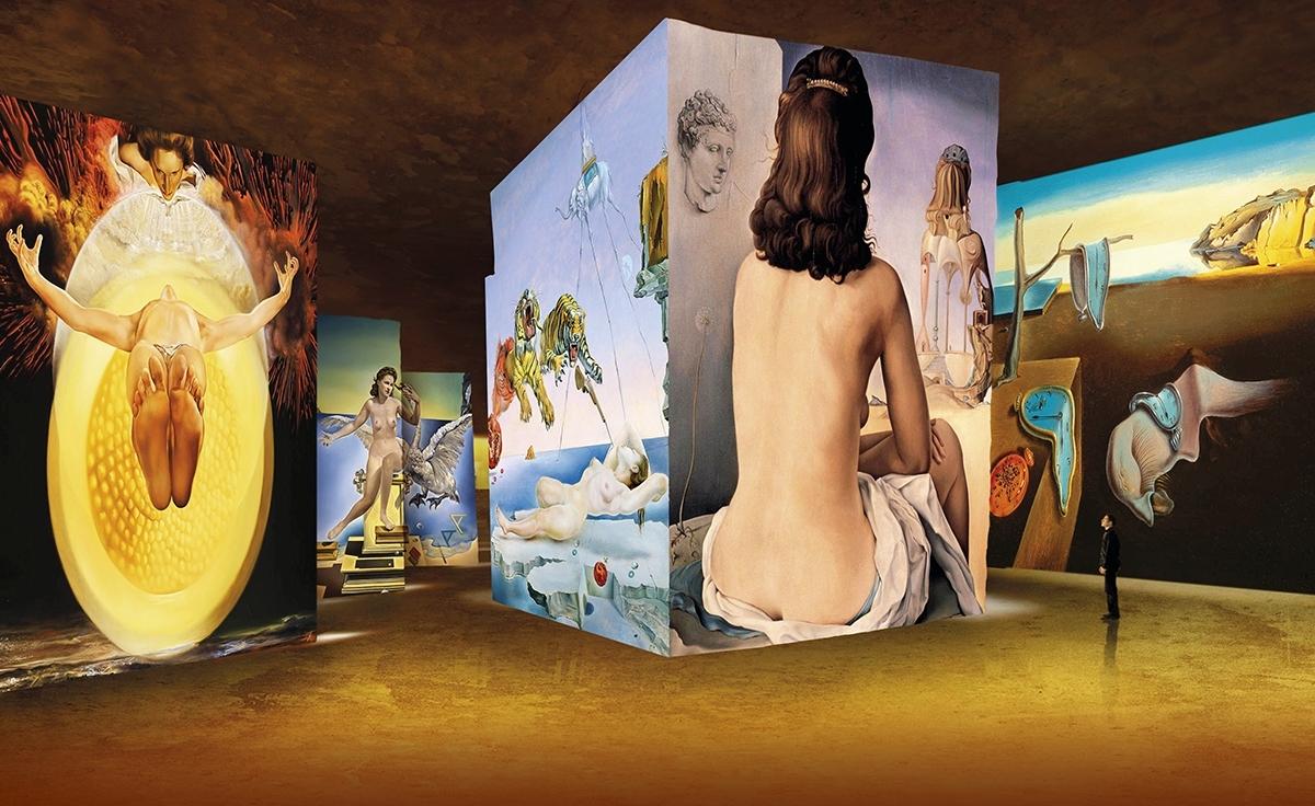 , Salvador Dali s'expose aux Carrières de Lumières sur la musique des Pink Floyd, Made in Marseille