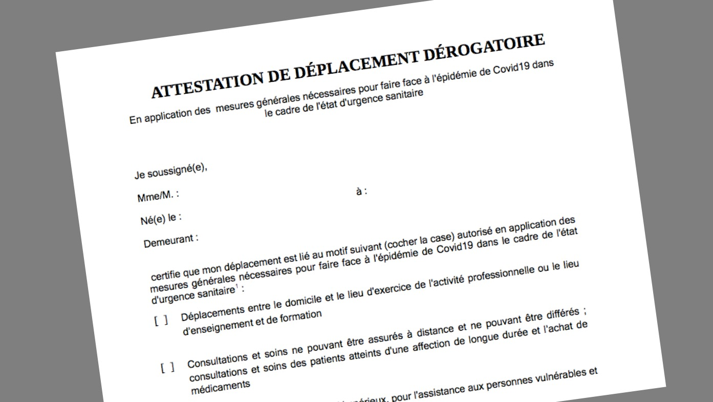 Telecharger Et Comprendre Les Nouvelles Attestations De Deplacement